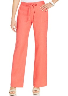 Charter Club Petite Wide-Leg Linen Pants