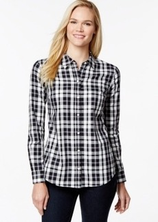 Charter Club Plaid Button-Down Shirt