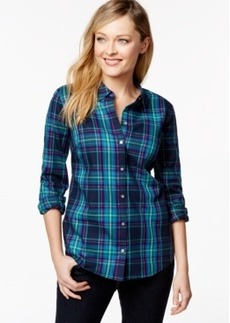 Charter Club Plaid Button-Down Shirt, Only at Macy's