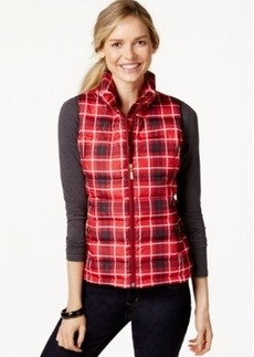 Charter Club Plaid Quilted Vest, Only at Macy's