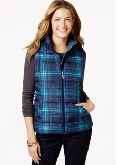 Charter Club Plaid Sleeveless Vest, Only at Macy's