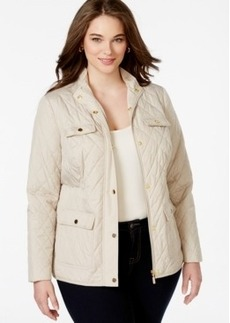 Charter Club Plus Size 4-Pocket Quilted Jacket, Only at Macy's