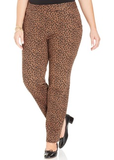 Charter Club Plus Size Animal-Print Slim-Leg Pants