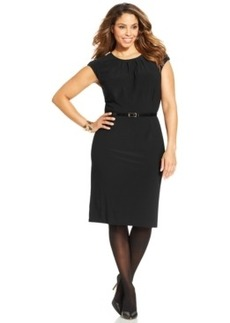 Charter Club Plus Size Belted Sheath Dress