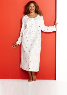 Charter Club Plus Size Brushed Knit Gown