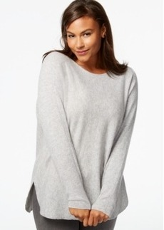Charter Club Plus Size Cashmere High-Low Sweater
