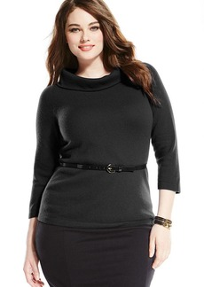 Charter Club Plus Size Cashmere Marilyn-Neck Sweater