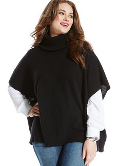 Charter Club Plus Size Cashmere Poncho Sweater