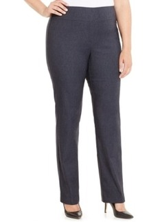 Charter Club Plus Size Chambray Pull-On Bootcut Pants, Only at Macy's