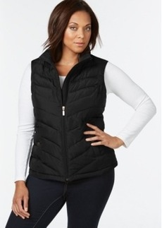 Charter Club Plus Size Chevron-Quilted Vest, Only at Macy's