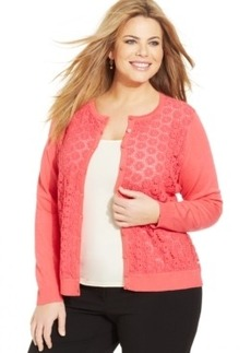 Charter Club Plus Size Crochet Cardigan