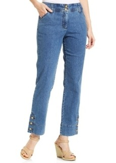 Charter Club Plus Size Cropped Jeans, Antique Indigo Wash