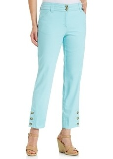 Charter Club Plus Size Cropped Straight-Leg Pants
