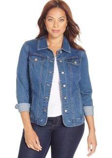 Charter Club Plus Size Denim Jacket, Nantucket Wash
