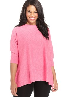 Charter Club Plus Size Dolman-Sleeve High-Low Sweater