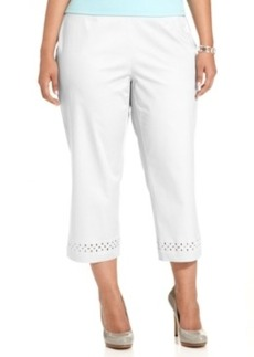 Charter Club Plus Size Embellished Straight-Leg Capri Pants