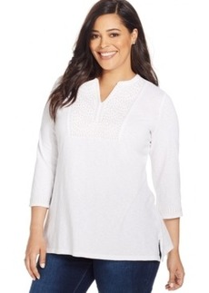 Charter Club Plus Size Embroidered Tunic