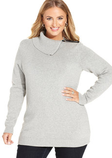 Charter Club Plus Size Envelope-Neck Sweater