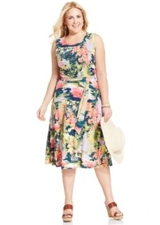 Charter Club Plus Size Floral-Print A-Line Dress