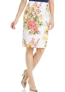 Charter Club Plus Size Floral-Print Pencil Skirt