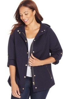 Charter Club Plus Size Hooded Anorak Jacket