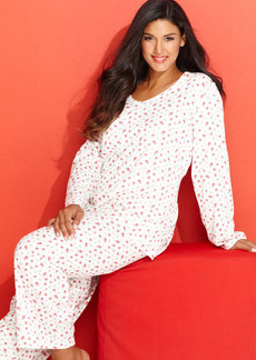 Charter Club Plus Size Knit Pajama Set