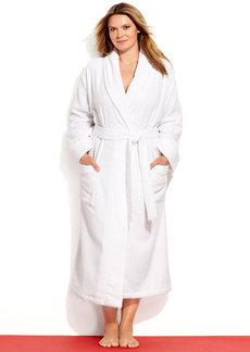 Charter Club Plus Size Long Luxe Terry Robe