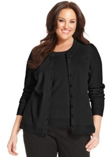 Charter Club Plus Size Long-Sleeve Cardigan, Only at Macy's