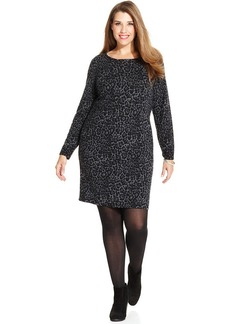 Charter Club Plus Size Merino Wool Leopard-Print Sweater Dress