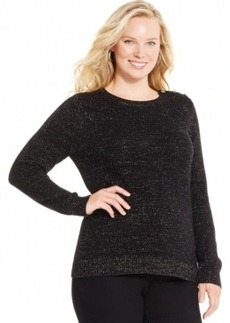 Charter Club Plus Size Metallic Pullover Sweater, Only at Macy's