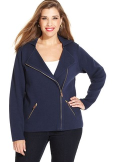 Charter Club Plus Size Moto Jacket