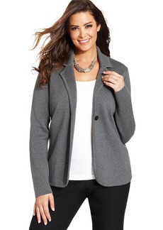 Charter Club Plus Size One-Button Blazer Cardigan