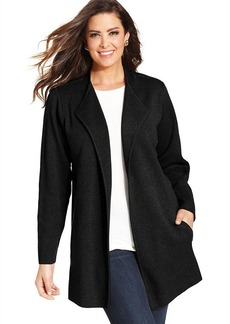 Charter Club Plus Size Open-Front Sweater Coat