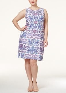 Charter Club Plus Size Paisley-Print Sheath Dress, Only at Macy's