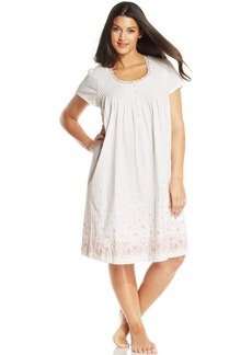 Charter Club Plus Size Petal Sleeve Printed Chemise