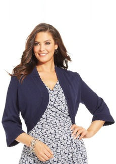 Charter Club Plus Size Pintucked Bolero