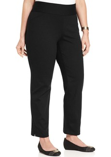 Charter Club Plus Size Ponte Straight-Leg Pull-On Pants