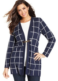 Charter Club Plus Size Printed Duster Cardigan