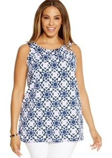 Charter Club Plus Size Printed Halter Top