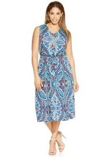Charter Club Plus Size Printed Midi Dress