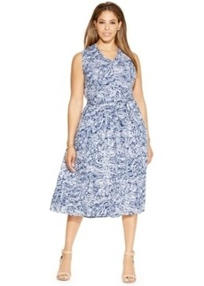 Charter Club Plus Size Printed Midi Dress
