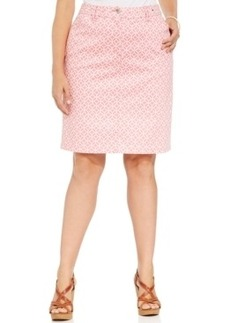 Charter Club Plus Size Printed Pencil Skort