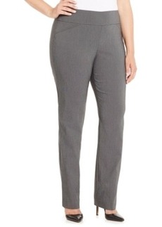 Charter Club Plus Size Printed Pull-On Bootcut Pants, Only at Macy's