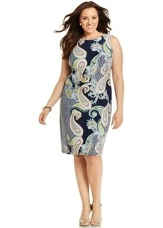 Charter Club Plus Size Printed Sheath Dress