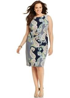 Charter Club Plus Size Printed Sheath Dress