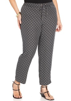 Charter Club Plus Size Printed Soft Pants