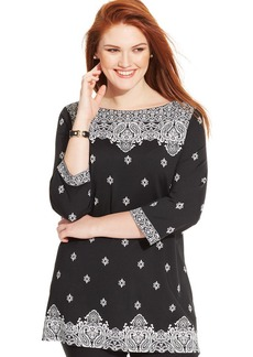 Charter Club Plus Size Printed Tunic
