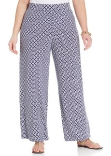 Charter Club Plus Size Printed Wide-Leg Soft Pants