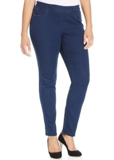 Charter Club Plus Size Pull-On Skinny South Hampton Wash Jeans, Only at Macy's