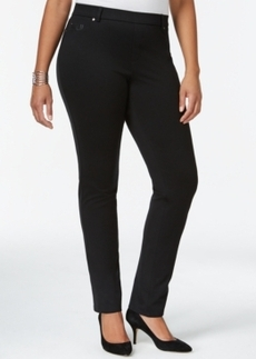 Charter Club Plus Size Pull-On Slim Ponte Pants, Only at Macy's